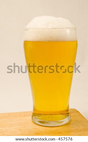 A Pint of lager - stock photo