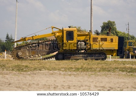 A pipeline digging machine