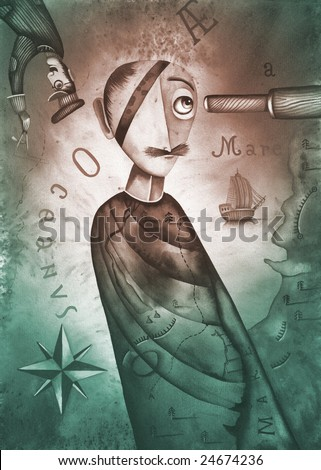 A pirate - stock photo