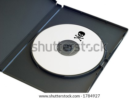 a pirated dvd with a clipping path - stock photo