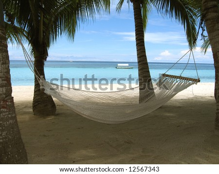 A place in the shade, Bohol, Philippines - stock photo
