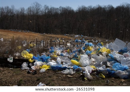 A place near a landfill in the US - stock photo