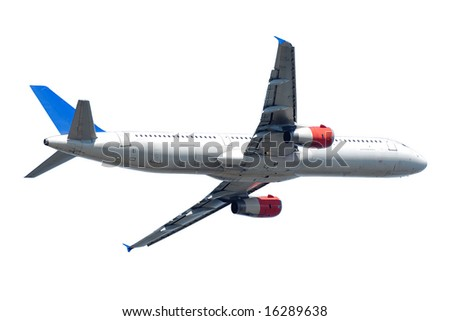 A plane isolated on a clean white background