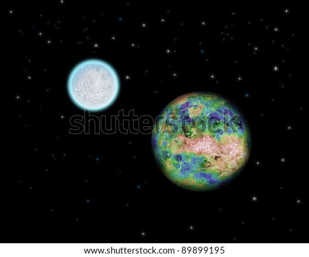 a planet is Earth and Moon