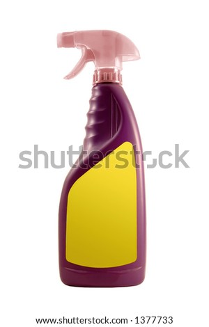 A plastic cleaning bottle. Check my portfolio for more home & garden objects. - stock photo