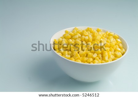 A plate with corn seed - stock photo