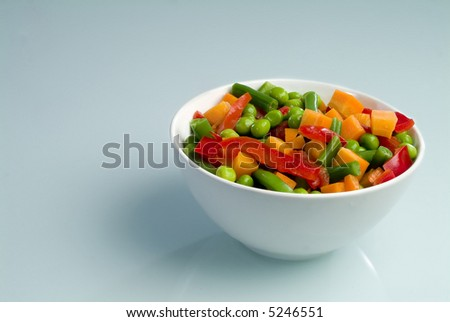 A plate with vegetables - stock photo