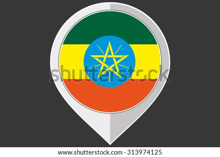 A Pointer with the flag of Ethiopia