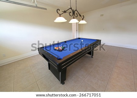 Pool Table Garage Florida Stock Photo Edit Now Shutterstock - Pool table in garage