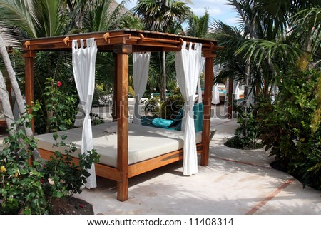 Poolside Bed poolside beach bed tropical resort stock photo 11408314 - shutterstock