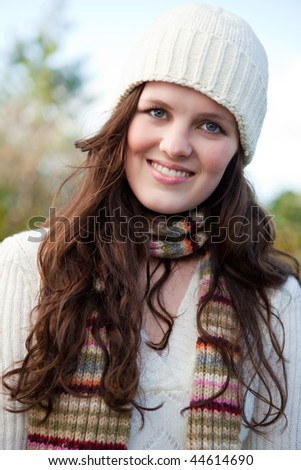 A portrait of a beautiful teenager outdoor