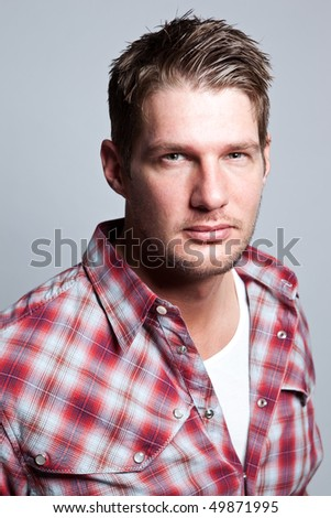 A portrait of a handsome caucasian man - stock photo
