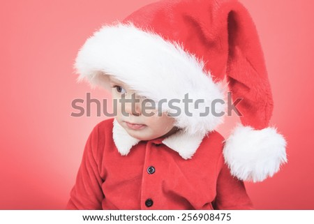 A Portrait of a little boy on christmas time