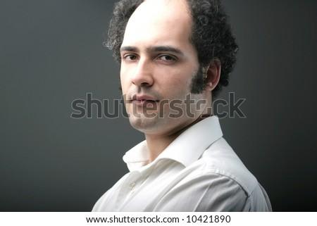a portrait of a man - stock photo