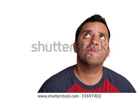 A portrait of a man who appears to be thinking about something - stock photo