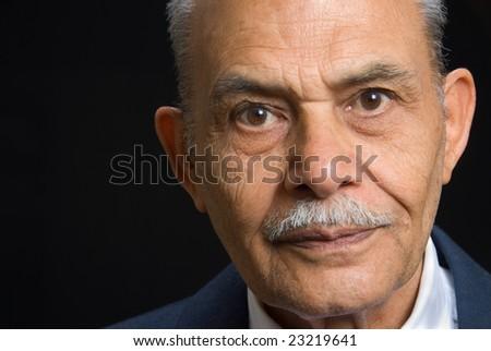 A portrait of a senior Asian man - stock photo