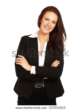 A portrait of a successful businesswoman