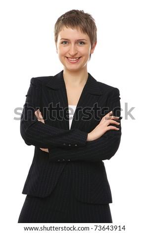 A portrait of a successful businesswoman - stock photo