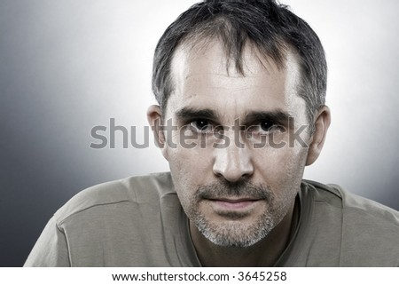 A portrait of a 40 years old man - stock photo
