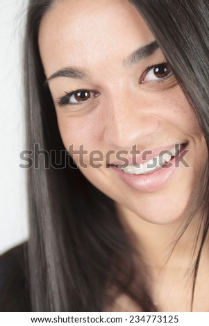 A portrait of a 20 years old woman. - stock photo
