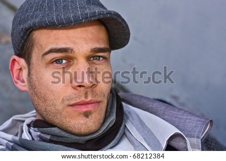 a portrait of a young man - stock photo