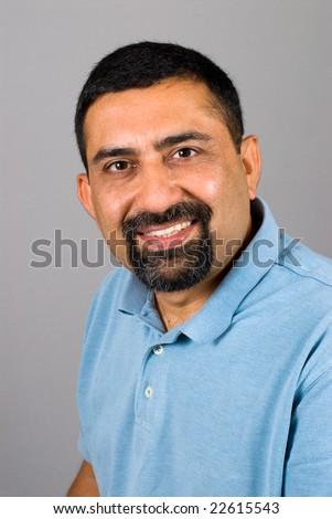 A portrait of an Asian East Indian man