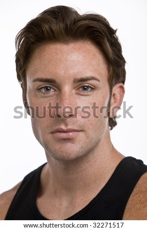A portrait of an attractive man - stock photo