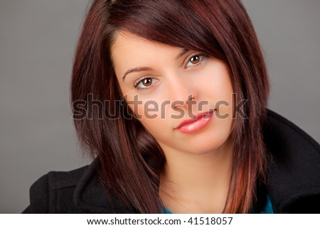 A Portrait of an attractive young woman. - stock photo