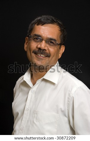 A portrait of an East Indian man - stock photo