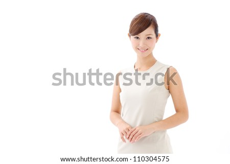 a portrait of asian businesswoman - stock photo