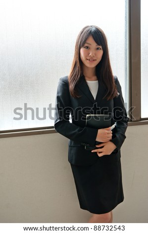 a portrait of young businesswoman