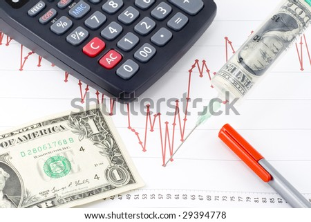a possible way to cure the current economic recession - stock photo