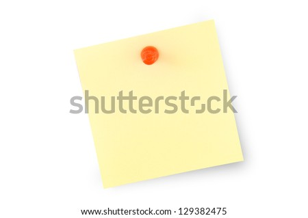 A postit vacuum with a PIN on white background - stock photo