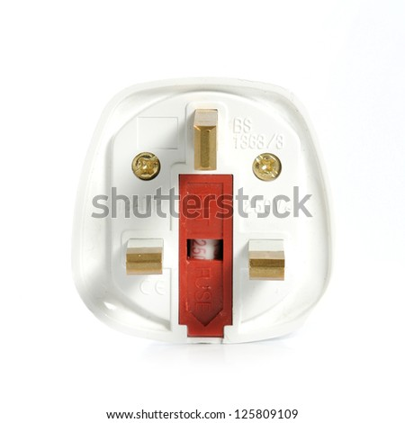 A Power Adaptor on White Background - stock photo
