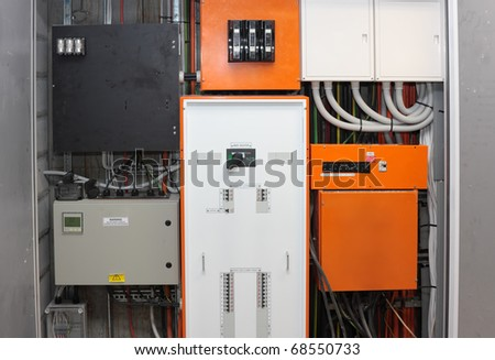 A power board in a building
