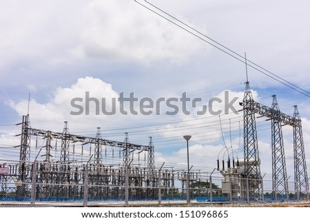 a power plants in a countryside
