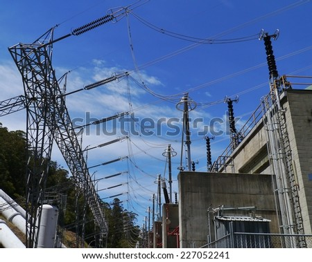 A power station in the snowy mountains of New South Wales in Australia - stock photo
