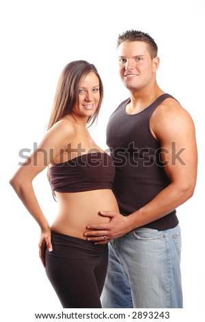 a pregnant woman and a man make a beautiful couple