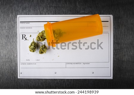 a prescription for medical marijuana  - stock photo