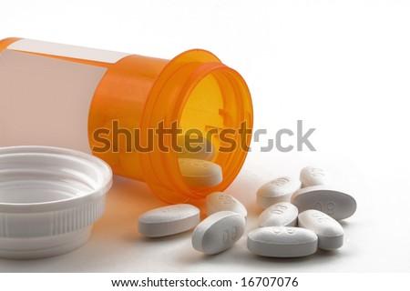 A prescription spilled - stock photo