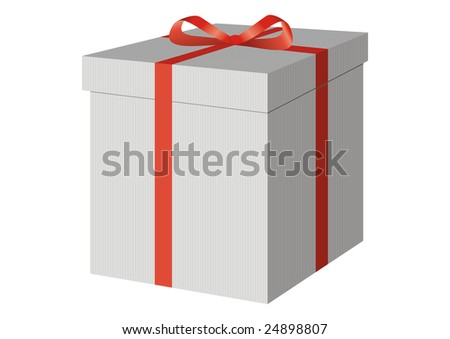 A present box with a red bow