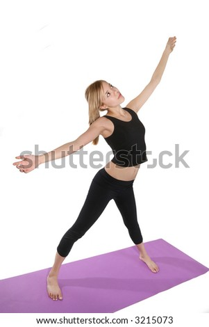 A pretty woman exercising and maintaining good fitness