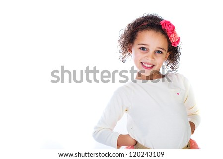 A pretty young girl with a radiant smile - stock photo