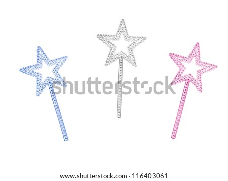 A princess wand isolated against a white background