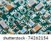 a printed circuit board, a macro shot - stock photo