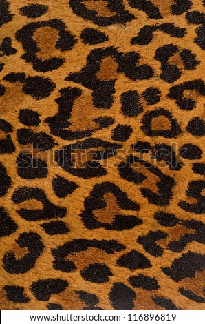A printed representation of the beautiful markings of a leopard skin - stock photo