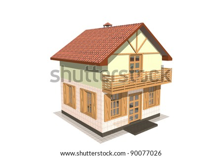 A private home. The illustration on white background