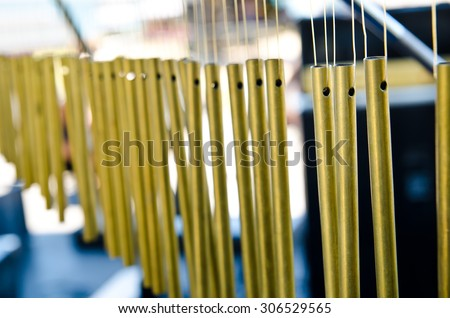a professional bar chimes on the stage - stock photo