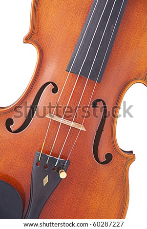 A professional violin viola isolated against a white background. - stock photo