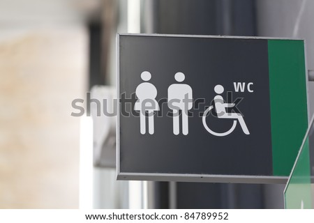 a public toilet with disabled access - stock photo